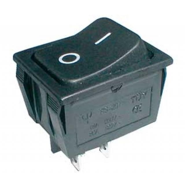 Kolébkový přepínač černý 2pol/4pin ON-OFF 250V/15A (02620041)