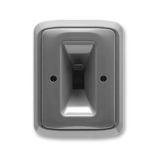 Spínač páčkový trojpólový s instalační krabicí a upevňovací sponou TANGO - kouřová šedá