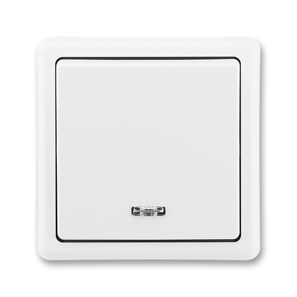 Spínač jednopólový CLASSIC se signalizační doutnavkou