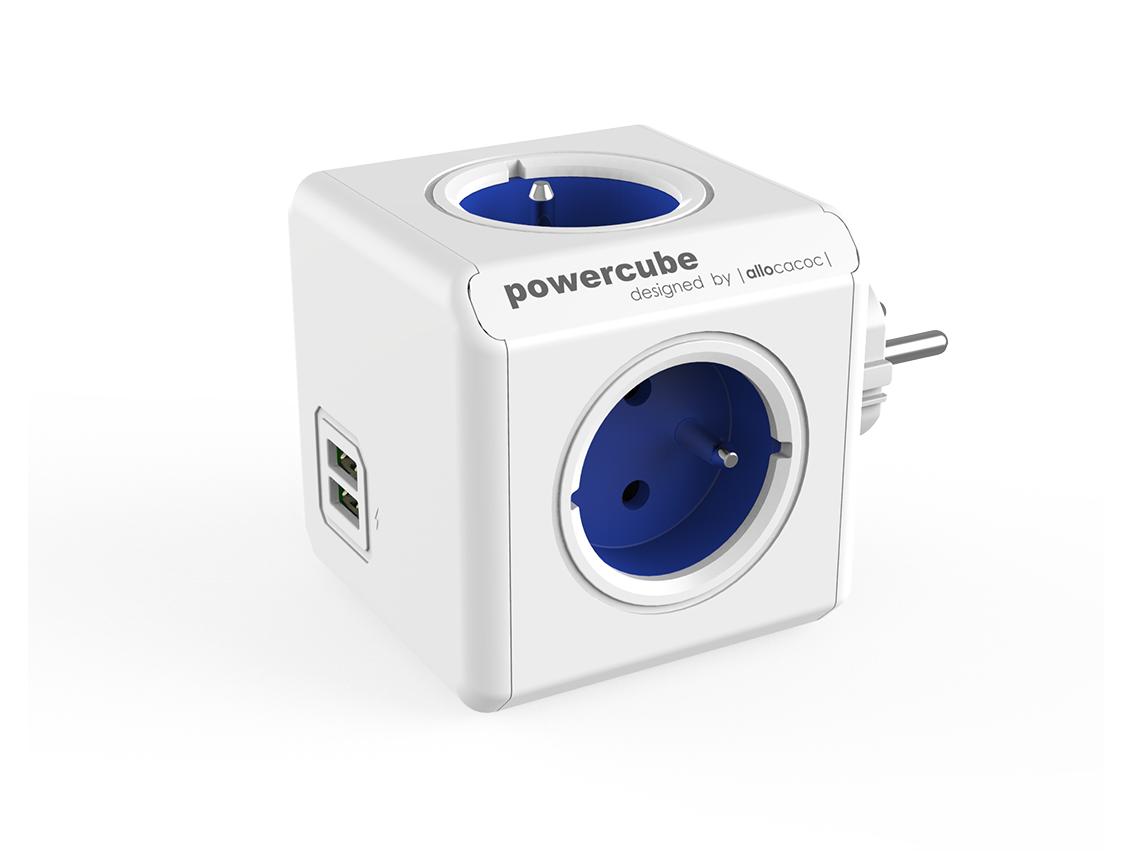 PowerCube Original USB Blue rozbočovací zásuvka