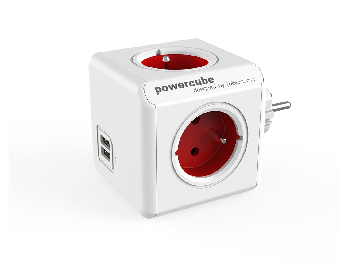 PowerCube Original USB Red rozbočovací zásuvka