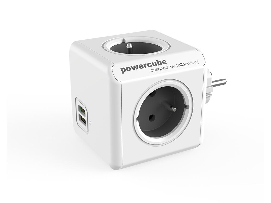 PowerCube Original USB Grey rozbočovací zásuvka