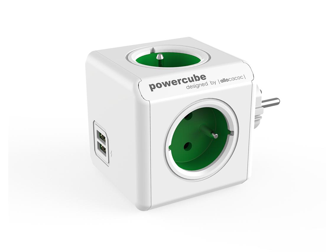 PowerCube Original USB Green rozbočovací zásuvka