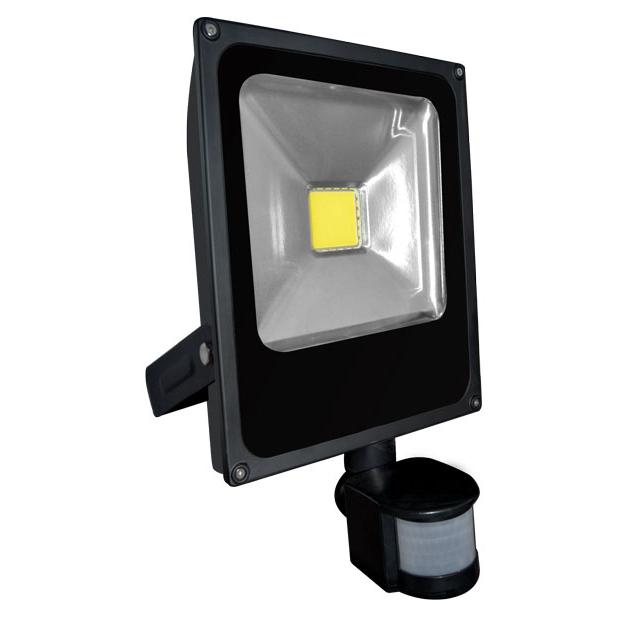 LED reflektor DAISY PIR MCOB 30 W s čidlem pohybu