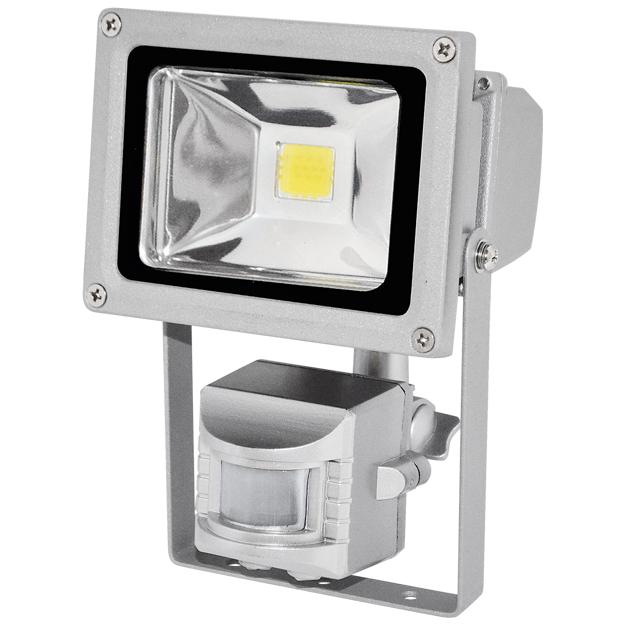 LED reflektor TOMI MCOB 10 W s čidlem pohybu