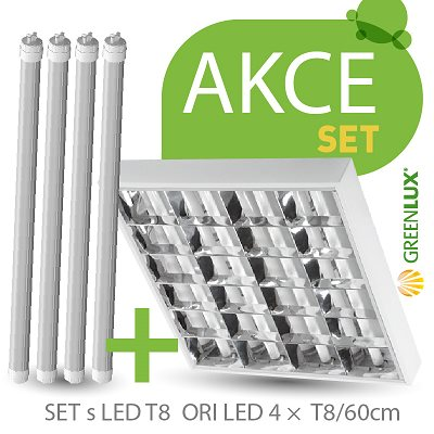 Svítidlo SET ORI LED 4 x T8 / 60 cm