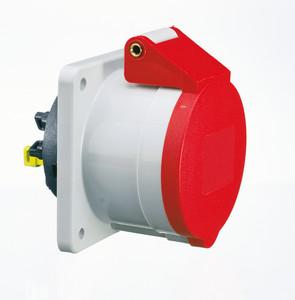 Průmyslová zásuvka vestavná přímá Quick-Connect 400V/32A/4póly (IP44)