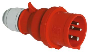 Průmyslová vidlice se změnou fáze Quick-Connect s Multi-Grip 400V/32A/5póly (IP44)