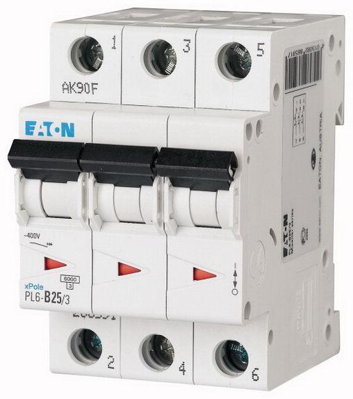 Jistič třífázový EATON PL6-B25/3, 25 A