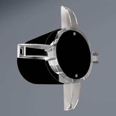 Nástěnný ventilátor IDEA 125 S - se svorkovnicí a podsvětlením