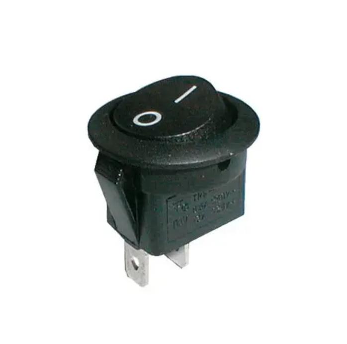 Kolébkový přepínač černý 2pol/2pin ON-OFF 250V/6A (02620014)