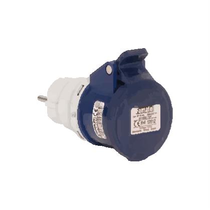 Adaptér - domácí vidlice/CEE zásuvka - IP40, 230V, 16A (13912)
