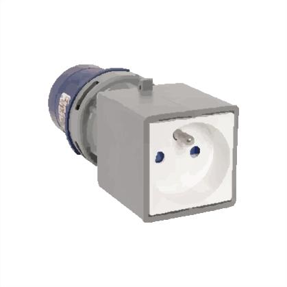 Adaptér - CEE vidlice /zásuvka s kolíkem - IP40, 230V, 16A (139101)