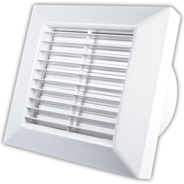 Nástěnný ventilátor PRIMO base 100 A - s automatickou žaluzií a svorkovnicí