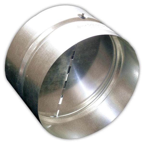 Plechová zpětná klapka METAL-K KKP o průměru 125 mm