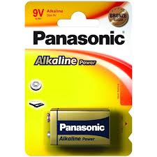 Alkalická baterie 9V Panasonic Alkaline Power 6LR61APB (1ks v blistru)
