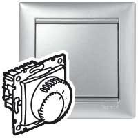 Prostorový termostat Valena (standard) - stříbrná