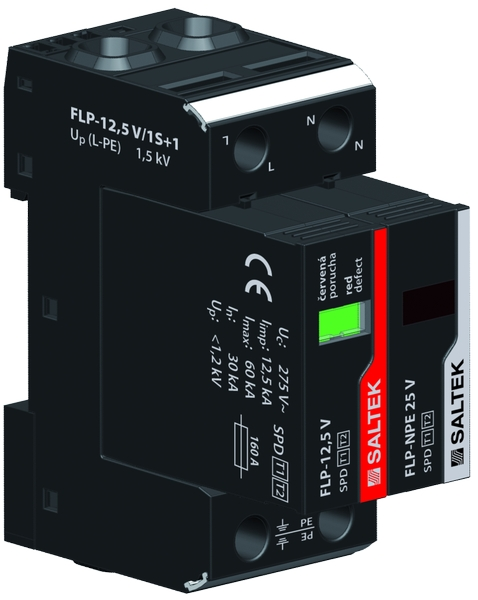 Svodič bleskových proudů FLP-12,5 V/1S+1