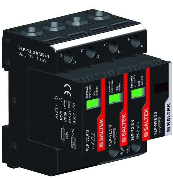 Svodič bleskových proudů FLP-12,5 V/3S+1