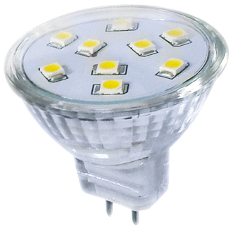 LED žárovka LED9 SMD 2835 MR11 2 W - CW