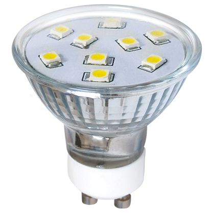 LED žárovka LED9 SMD 2835 GU10 2 W - CW