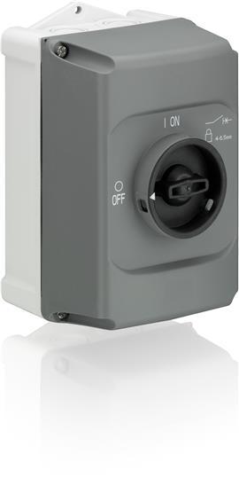 Plastová skříňka IB325-G, IP 65 s N/PE pro motorový spouštěč MS 325