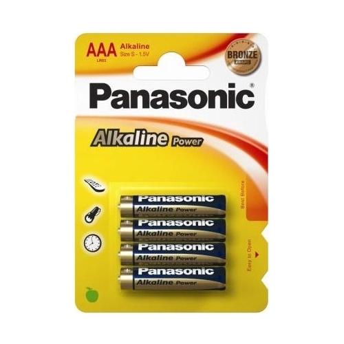 Alkalická baterie AAA Panasonic Alkaline Power LR03APB (4ks v blistru)