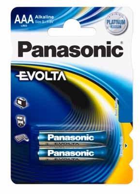Alkalická baterie AAA Panasonic Evolta LR03EGE (2ks v blistru)