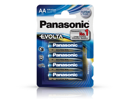 Alkalická baterie AAA Panasonic Evolta LR03EGE (4ks v blistru)