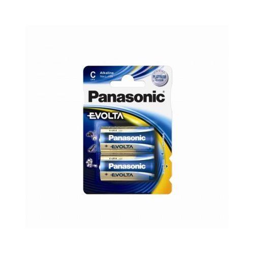 Alkalická baterie C Panasonic Evolta LR14EGE (2ks v blistru)