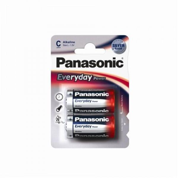 Alkalická baterie C Panasonic Everyday Power LR14EPS (2ks v blistru)
