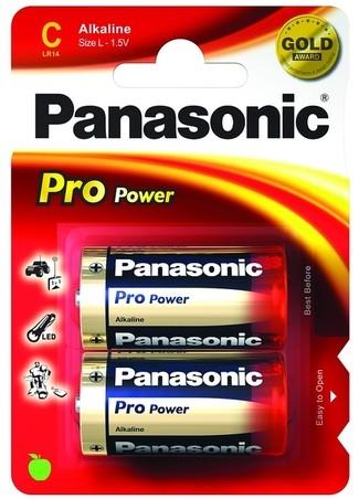Alkalická baterie C Panasonic ProPower LR14PPG (2ks v blistru)