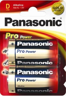 Alkalická baterie D Panasonic ProPower LR20PPG (2ks v blistru)