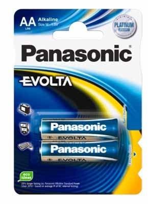 Alkalická baterie AA Panasonic Evolta LR6EGE (2ks v blistru)