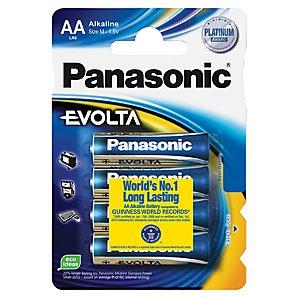 Alkalická baterie AA Panasonic Evolta LR6EGE (4ks v blistru) (LR6EGE/4BP)
