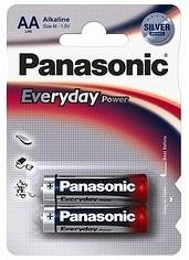 Alkalická baterie AA Panasonic Everyday Power LR6EPS (2ks v blistru)