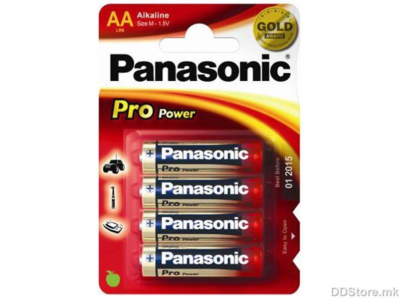 Alkalická baterie AA Panasonic ProPower LR6PPG (4ks v blistru)