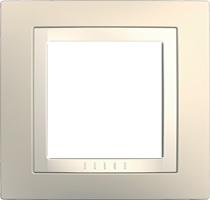 Rámeček UNICA Basic jednonásobný Cream/Marfil