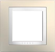 Rámeček UNICA Basic jednonásobný Cream/Polar