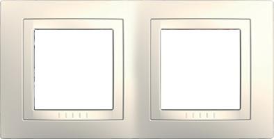Rámeček UNICA Basic dvojnásobný Marfil