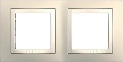 Rámeček UNICA Basic dvojnásobný Cream/Marfil