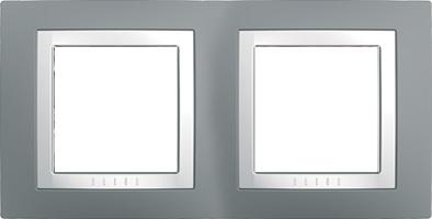 Rámeček UNICA Basic dvojnásobný Technico/Polar