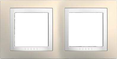 Rámeček UNICA Basic dvojnásobný Cream/Polar
