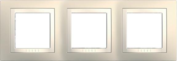 Rámeček UNICA Basic trojnásobný Cream/Marfil