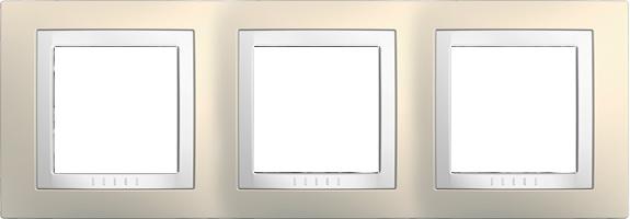 Rámeček UNICA Basic trojnásobný Cream/Polar