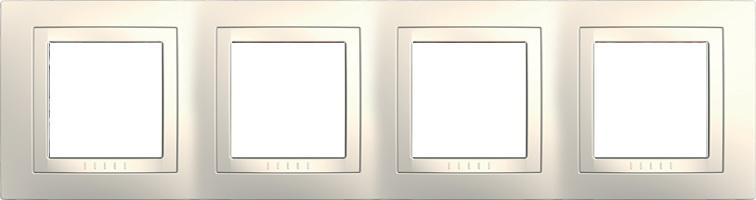 Rámeček UNICA Basic čtyřnásobný Marfil