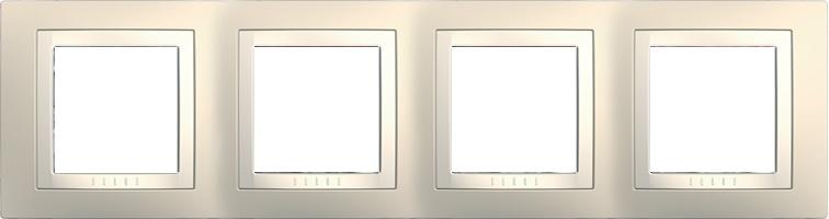 Rámeček UNICA Basic čtyřnásobný Cream/Marfil