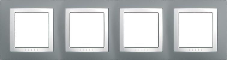 Rámeček UNICA Basic čtyřnásobný Technico/Polar