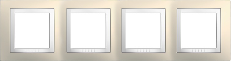 Rámeček UNICA Basic čtyřnásobný Cream/Polar