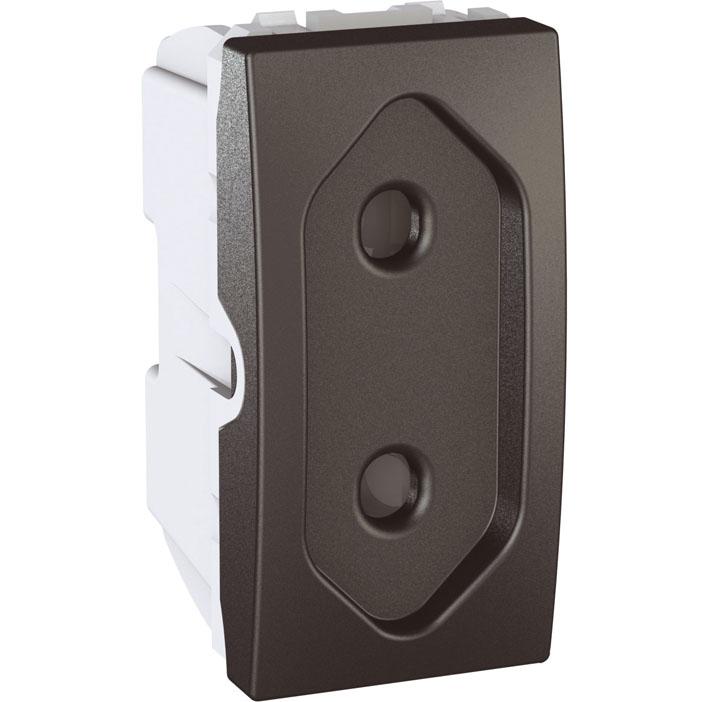 Zásuvka UNICA pro ploché vidlice, 1 modul (Grafit)
